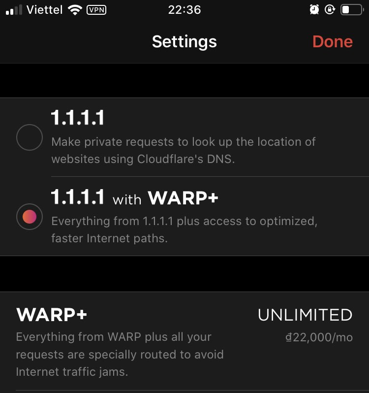 warp plus vpn