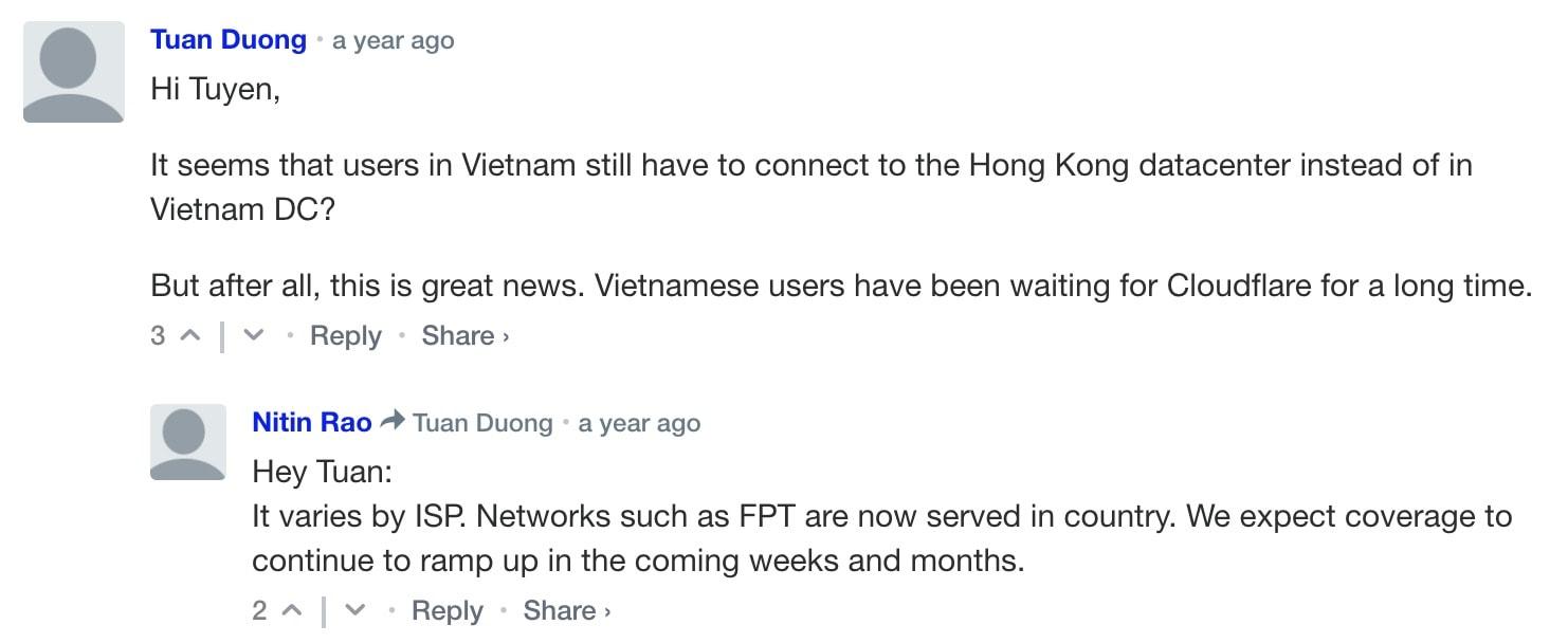 cloudflare data center vietnam