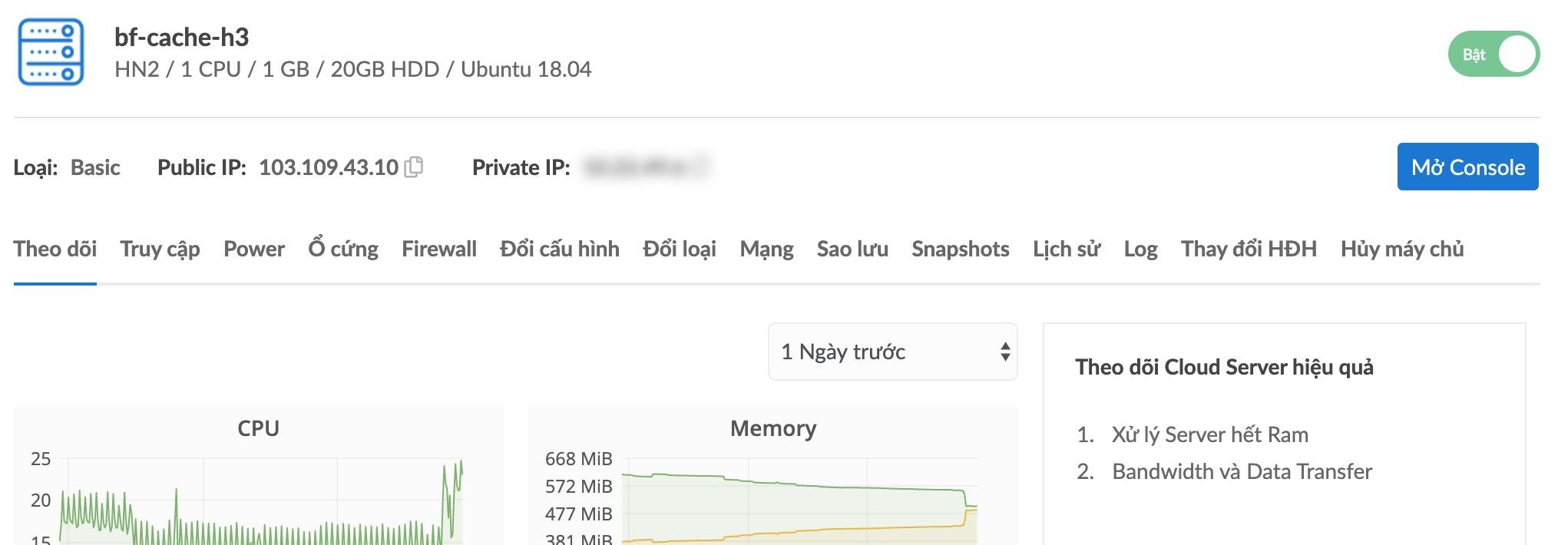 bizfly cau hinh server